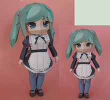 Maid Papercraft by Gardevoir1997