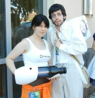 Chell and Doug by Kisa-Uchiha87