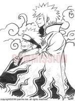 Naruto and Hokage Commission by junosama