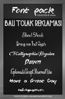 003 Font pack collected by Zaula by ZaulaGraphics