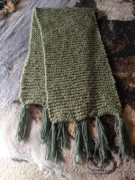 Green Scarf with Dark Green Tassles by Wootzie14