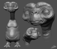 E.T. Zbrush Doodle by FoxHound1984