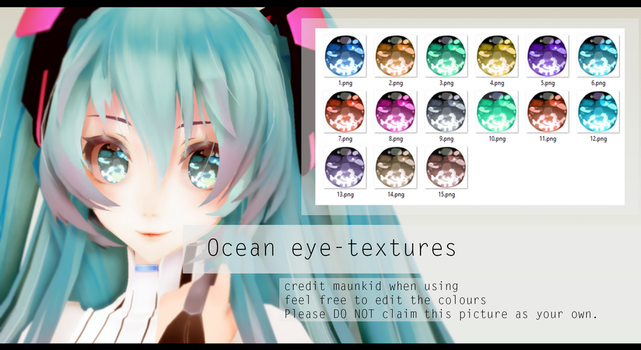 MMD Ocean eye-textures DL! by maunkid