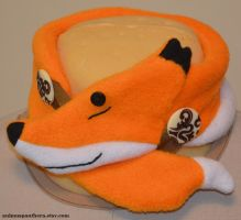 Sleepy Fox neck warmer by Animus-Panthera