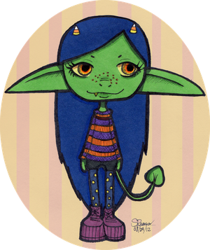 Goblin Twin #1 by Estherella
