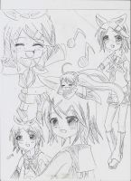 Many rins sketch by Angelkitty765
