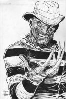 Freddy kreuger inks by c-crain