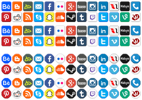 F2U: Social Media Icons by LilMissSunBear