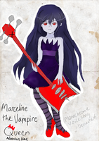 Marceline the VAMPIRE Queen by monochromevoicestory