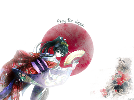 Wallpaper Pray For Japan by ScarletDev