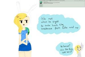 Ask Fionna the human question 1 by Drawing-Heart