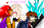 Amy Roseater And Sora In Foot Fetish Moment by amyroseater