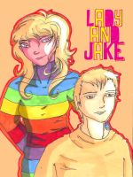 Lady and Jake - Humanised by ImRose