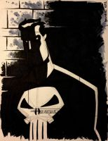 PUNISHER sketchcard 2 by thecheckeredman