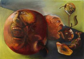Still Life With Apples by delira