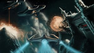 Space battle by Htogrom