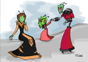 Requests-Invader Zim Sweet family by ChiehChen