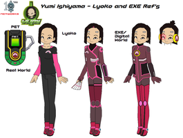 Yumi Ishiyama - Lyoko and EXE Refs by SuperDigiFlow