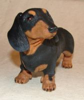 Dachshund Sculpture by philosophyfox