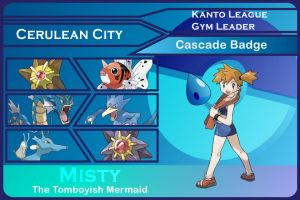 Kanto Gym Leader 1-Misty by JohnRiddle20