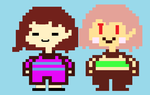 Frishara And Charisk Frisk And Chara Sprites by february-6555