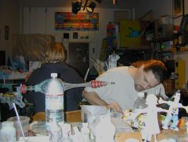 Mel and me in shop by TimBakerFX