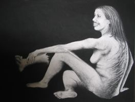 Crazy Woman with Foot by Clukyrat