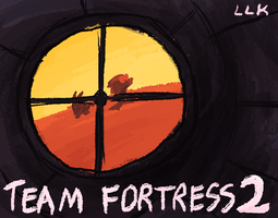 Team Fortress 2 - title card by jazaaboo