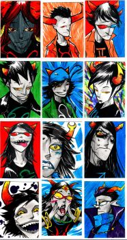 Homestuck Troll Cards by TheIronClown