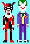 Pixel harley quinn and the joker by Ldysm