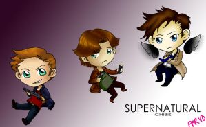 Supernatrual Chibis by pinkplaidrobot