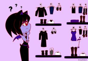 Day 24- Picking an outfit by HoneyBatty16
