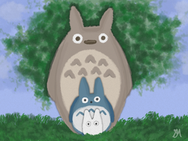 Totoro, Totoro by Aerie-Faerie