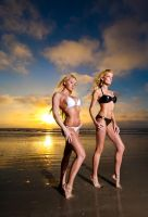 Amy and Shayna at sunrise by goodeggproductions