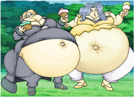 Pokemon. Fat Cynthia And Karen. by Virus-20