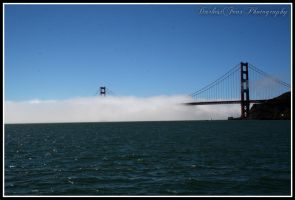 Golden Gate Bridge in the Fog by DarkestFear