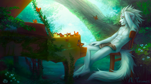 Comm: Piano in the forest by Teumes