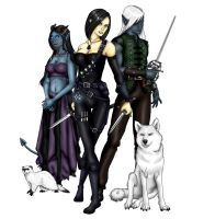 Four Rogues by mistressjera