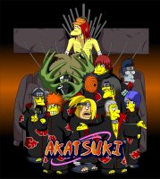 Naruto Simpsons - Akatsuki by lloydvdw