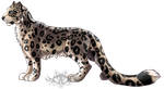 Snow Leopard Redrawn by NightMagican