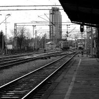 Trains - black and white by Ilharess