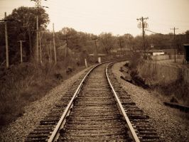 Old Timey Railroad Tracks by heels-of-tar