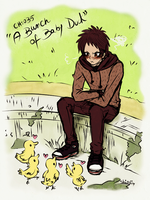 Rigby, A Bunch of Baby Ducks by KiraiRei