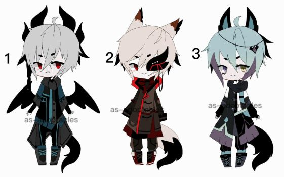 kemonomimi adoptable batch open 1/3 by AS-Adoptables