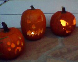 teh lighted punkins by LRpaul