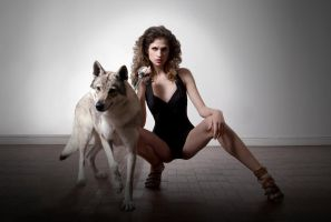 Beauty and Wolves Series  - Strong Woman by hikari-studio