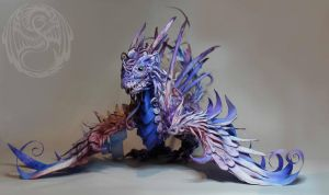 Fancy Wyvern - Handmade Poseable Artdoll by SonsationalCreations