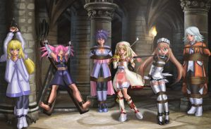 Damsels of Symphonia-bootless Presea variant by erikson1