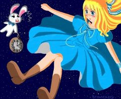 Alice and the rabbit by Browntaffy