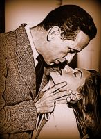 Bogart and Bacall by Nestorladouce